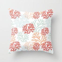 Corals Throw Pillow