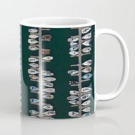 Marina aerial view Coffee Mug