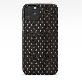 SKULLS PATTERN - BLACK & ROSE GOLD - LARGE iPhone Case