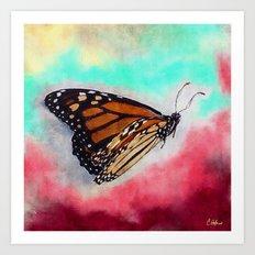 Butterfly - Here I Go Art Print