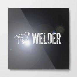 Welder Metal Print