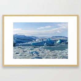 Jokulsarlon Lagoon -  Iceland - Travel Photography - Drawn Voyage Framed Art Print