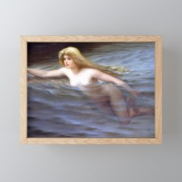 "Luis Ricardo Falero ""Sea nymph or Nymphe"" Framed Mini Art Print"
