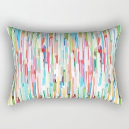 vertical brush strokes  Rectangular Pillow