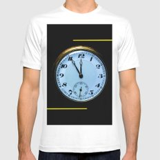 Abstract - pocket watch Mens Fitted Tee White MEDIUM