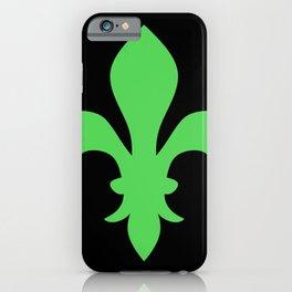 Fleur de Lis (Green & Black) iPhone Case
