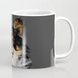 Long Hair Chihuahua On the Run Coffee Mug
