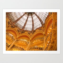 Galeries Lafayette Stained Glass Dome Art Print