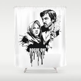 Fandom In Ink » Rogue One Shower Curtain