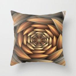 Fractal Buds Tunnel Throw Pillow