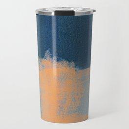 Summer Beach Abstract Orange Blue #painting #decor #society6 Travel Mug