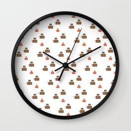 TOASTER PATTERN Wall Clock
