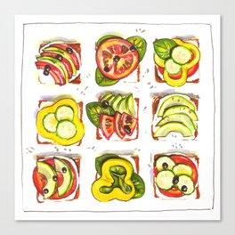go vegan! Canvas Print