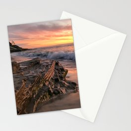 Fire sunset at Windansea Beach Stationery Cards