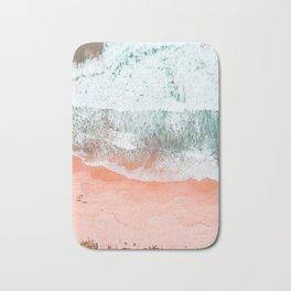 Coral Pink Ocean Print, Download, Sea Print, Beach Wall Art, Modern Beach Print, Beach Wave Print, B Bath Mat