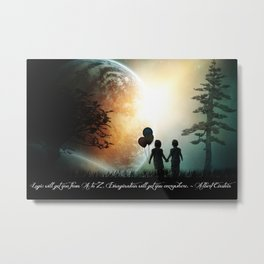 The Path of Imagination  Metal Print