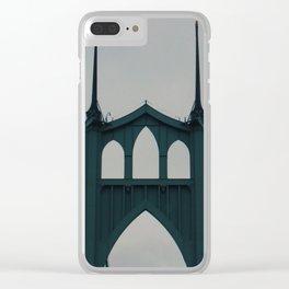 St Johns Bridge Clear iPhone Case