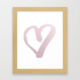 sweet pink heart Framed Art Print