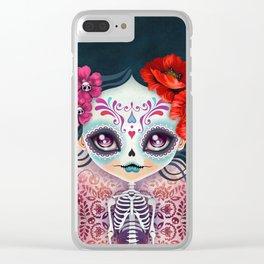 Amelia Calavera - Sugar Skull Clear iPhone Case