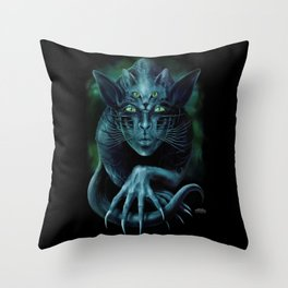 Cat People Throw Pillow