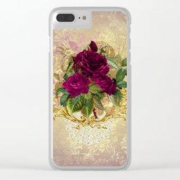 Decadent Velvet Rose Clear iPhone Case