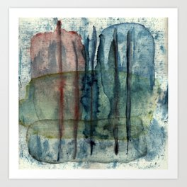 Earth, Sun, Sky, Distance / Elements, Translucent Art Print
