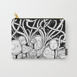 Many Monsters in Black Carry-All Pouch