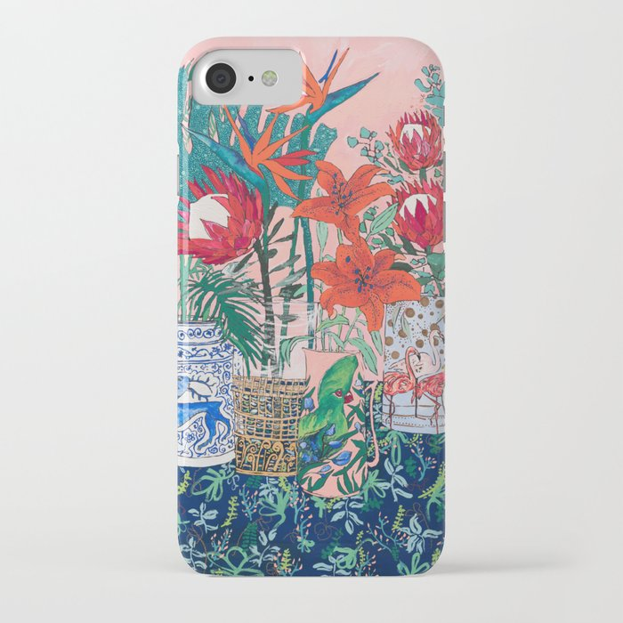 the domesticated jungle - floral still life iphone case
