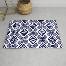 Indigo Diamonds Rug