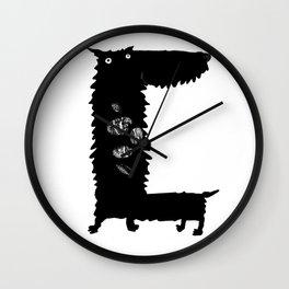 Stone Crunching Scottie Dog Wall Clock