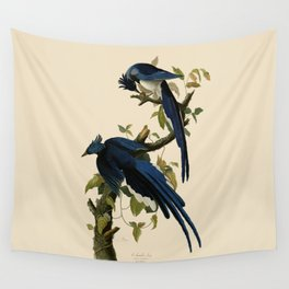Columbia Jay Illustration by J.J. Audubon Wall Tapestry