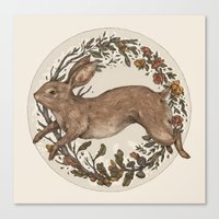 rabbit Canvas Prints featuring Rabbit by Jessica Roux