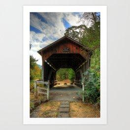 Lost Creek Covered Bridge Art Print