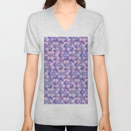 Botanical In Blue Unisex V-Neck