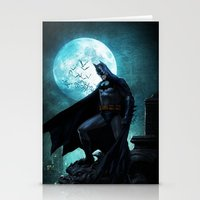 bat man Stationery Cards featuring BAT man by Electra