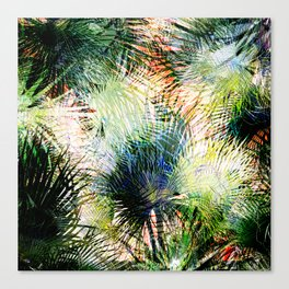 Modern palm leaves tropical abstract design Canvas Print