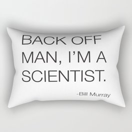 Ghostbusters Bill Murray Quote Rectangular Pillow