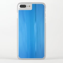 Abstract Blues Clear iPhone Case