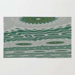 Green and Snowblue Egg 1 Rug