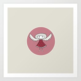 Guardian Angel Hana Art Print