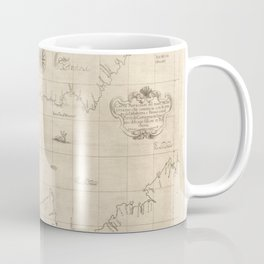 Vintage Map Print - 1646 map of the Western Mediterranean and Gibraltar by Robert Dudley Coffee Mug