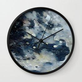 Dark Galaxy1 watercolour by CheyAnne Sexton Wall Clock