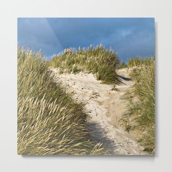 Scandinavian Sand Dune of Henne in Denmark Metal Print