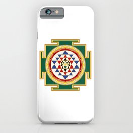 Sri Yantra colored iPhone Case