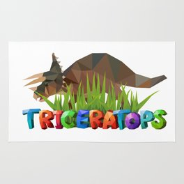 Funny Triceratops Rug