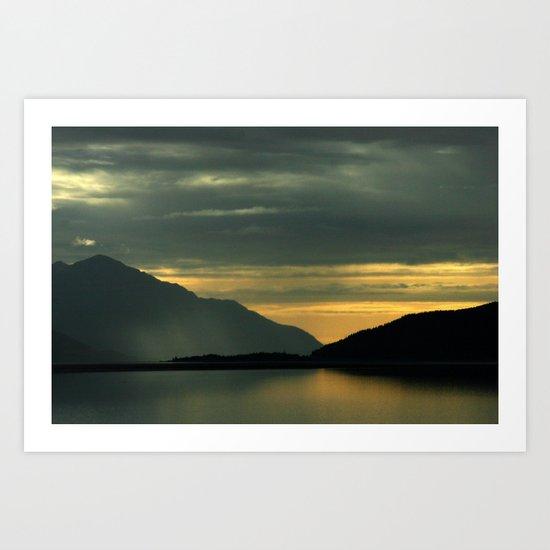 Where the Mountians Meet The Sea  - Turnagain Arm Alaska Art Print