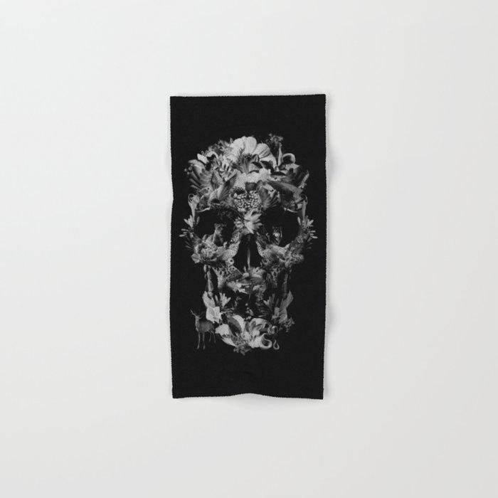 Jungle Skull B&W Hand & Bath Towel