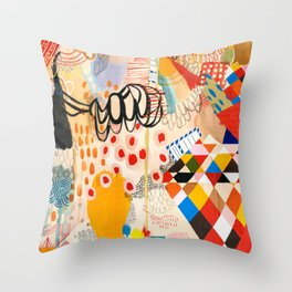 Wallpaper and Diamonds Part II Throw Pillow
