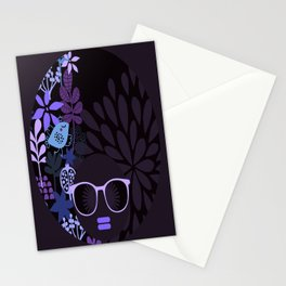 Afro Diva : Sophisticated Lady Purple Lavender Stationery Cards