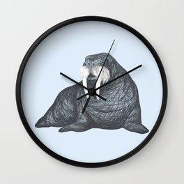 Frank Wallace in Blue | Nursery Art Walrus Drawing Wall Clock